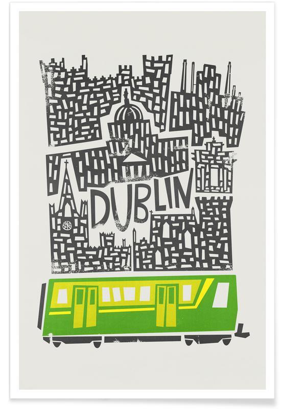 Dublin, Dublin Cityscape Plakat