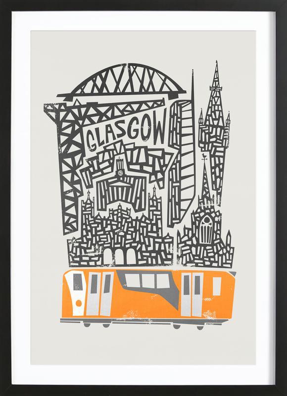 Glasgow Cityscape Framed Print