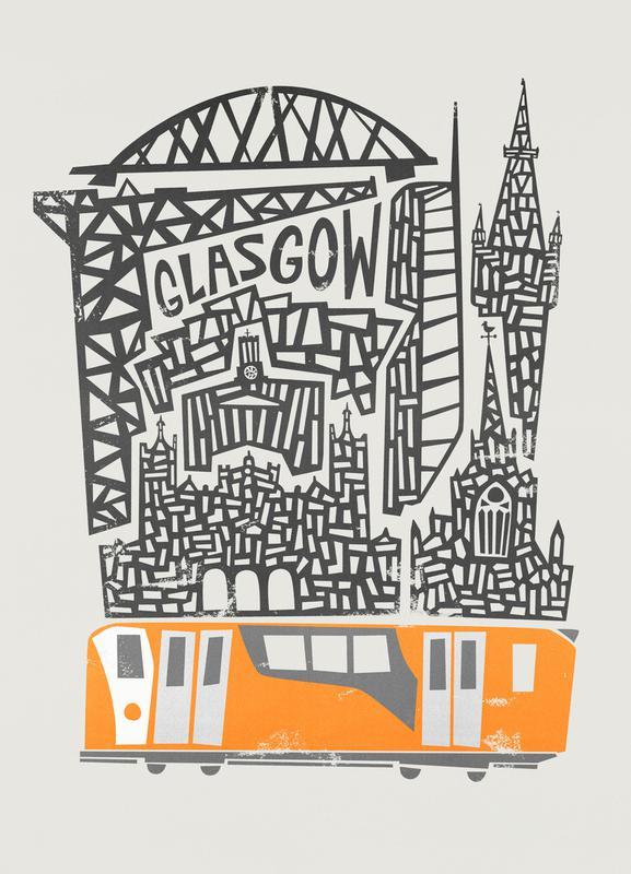 Glasgow Cityscape Canvas Print