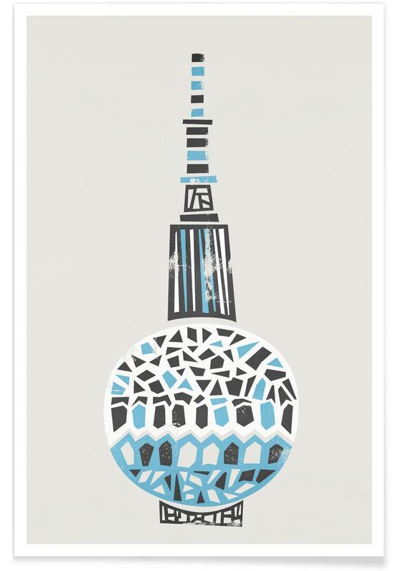Berlin TV Tower -Poster