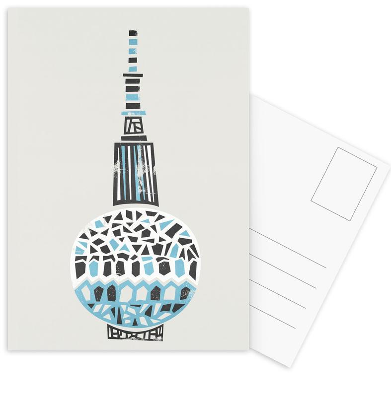 Berlin TV Tower Postcard Set