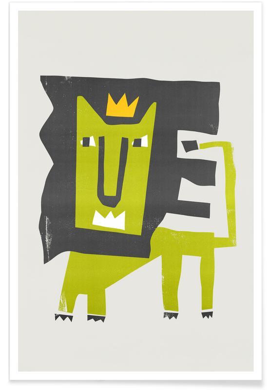 Leeuwen, Kunst voor kinderen, King Lion poster