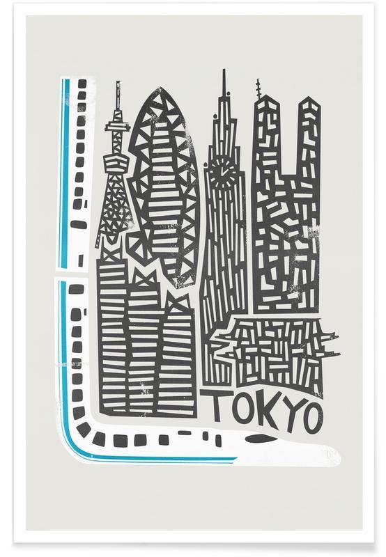 Tokyo, Tokyo Cityscape Poster