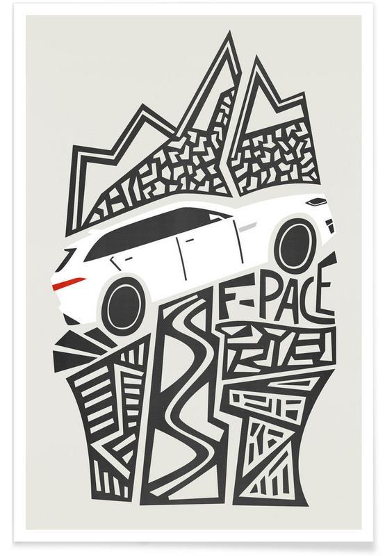 Autos, Kinderzimmer & Kunst für Kinder, F Pace -Poster