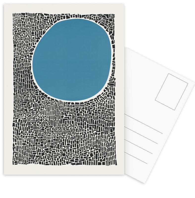 Abstract Landscapes, Blue Lake Postcard Set