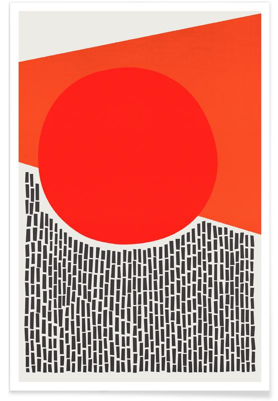 Abstract Landscapes, Sunshine and Rain Poster