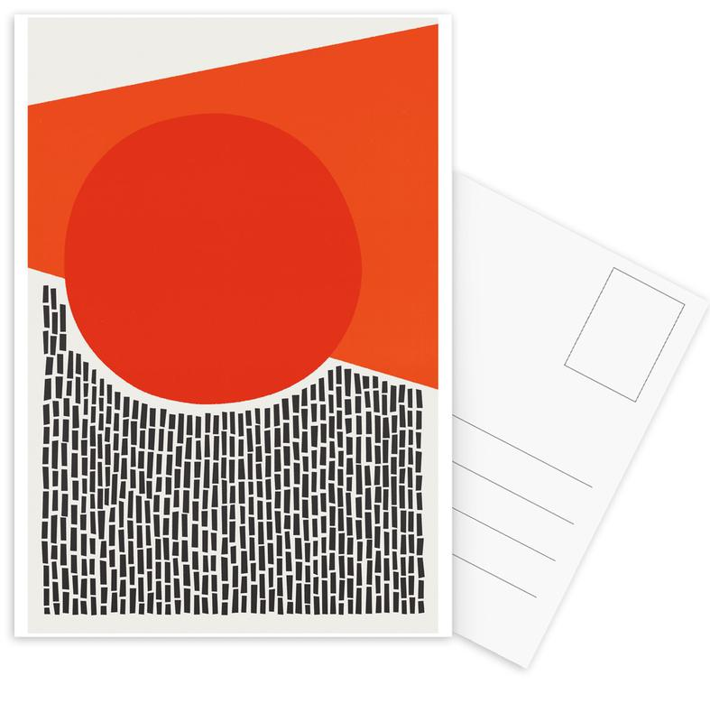 Abstract Landscapes, Sunshine and Rain Postcard Set