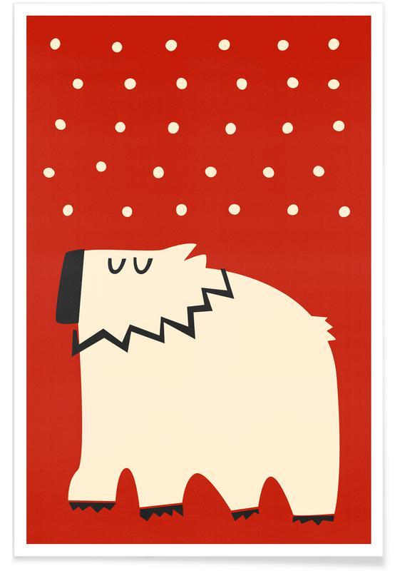 Kinderzimmer & Kunst für Kinder, Bären, Weihnachten, Polar Bear -Poster