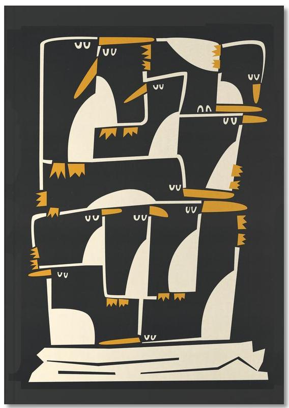 Nursery & Art for Kids, Penguins, Christmas, Penguins Notebook