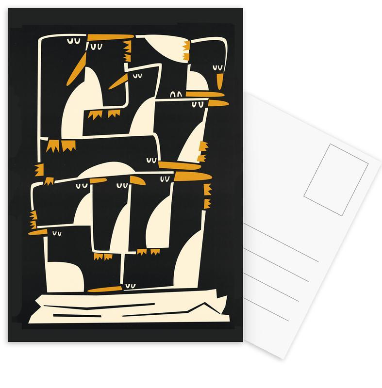 Penguins -Postkartenset