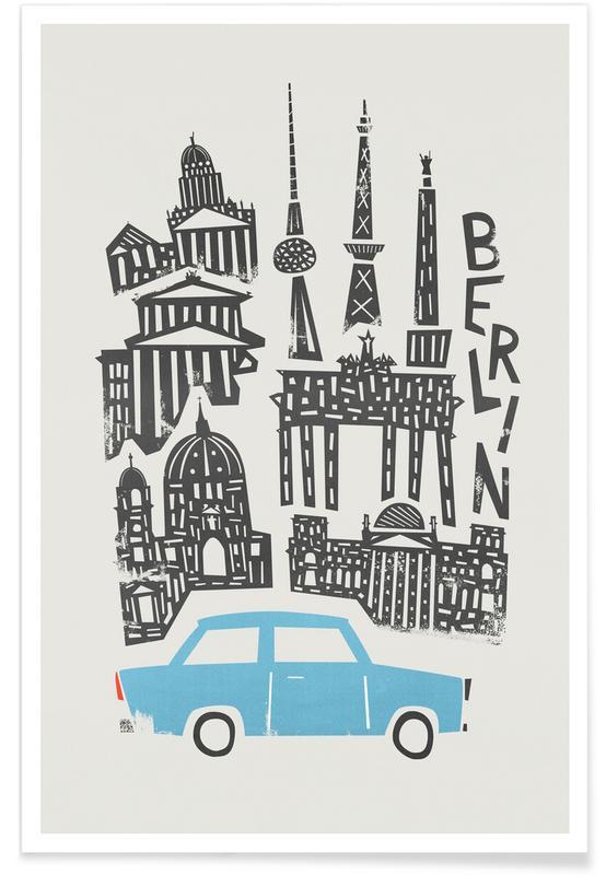 Berlin, Berlin Cityscape -Poster