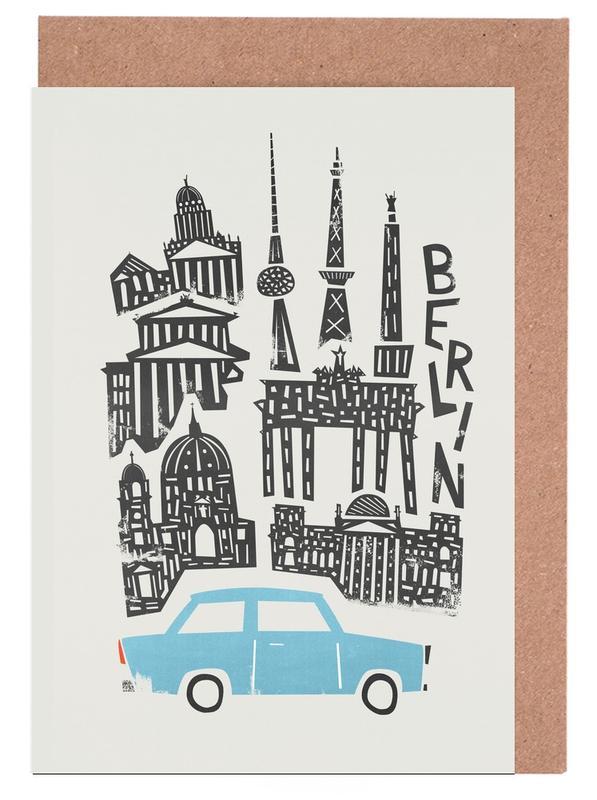 Berlin, Berlin Cityscape Greeting Card Set