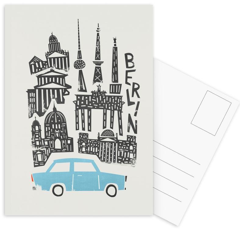 Berlin, Berlin Cityscape Postcard Set