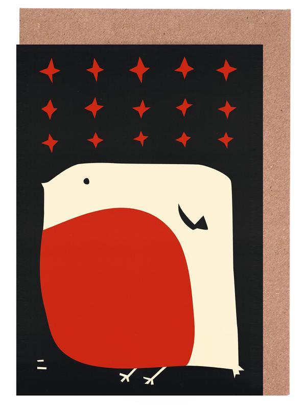Nursery & Art for Kids, Christmas, Robin Greeting Card Set