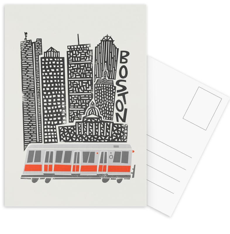 , Boston Postcard Set