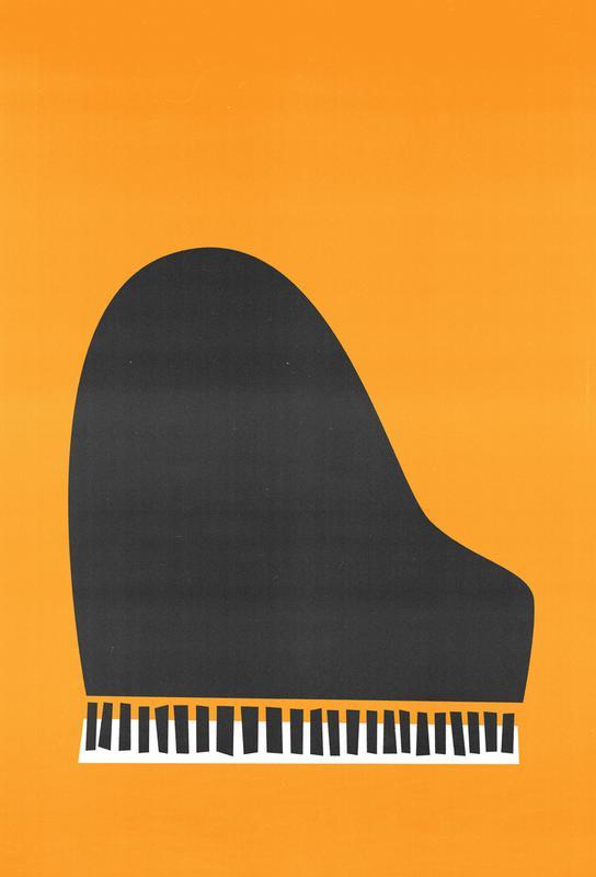 Grand Piano Impression sur alu-Dibond