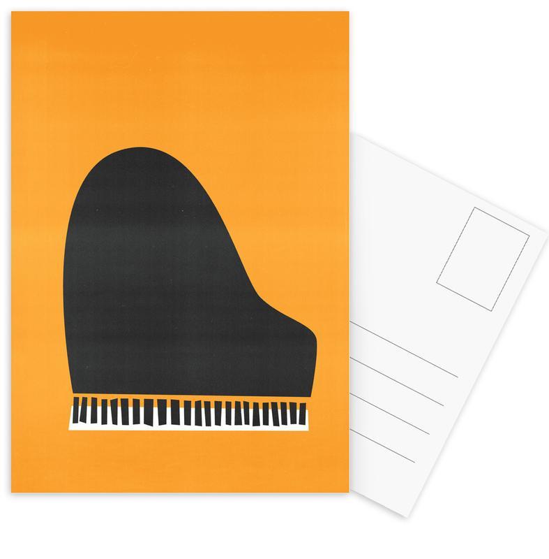 Retro, Grand Piano ansichtkaartenset