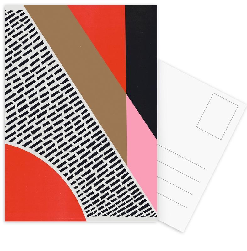 , Pink Gold Red Postcard Set