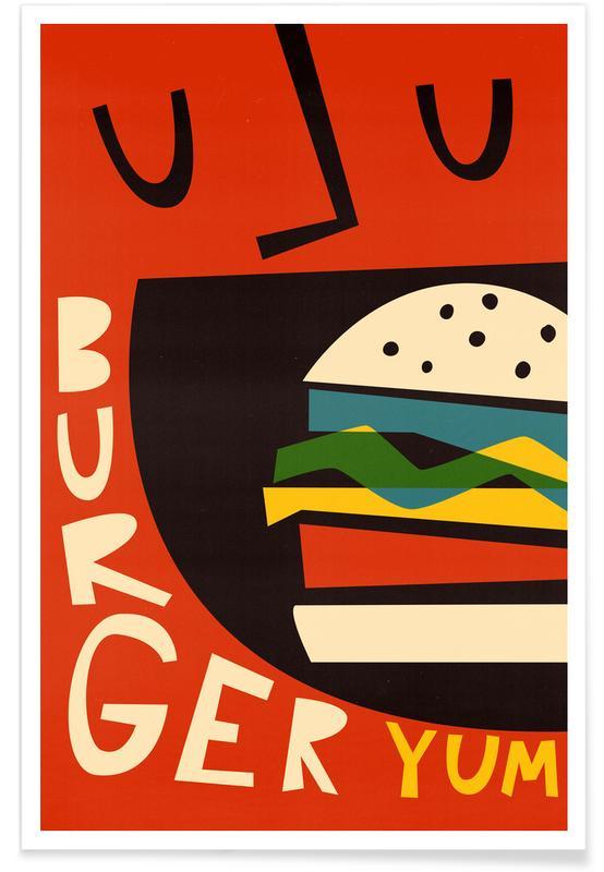 Burgers, Yum Burger Poster