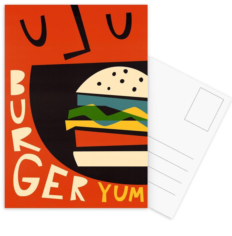 Burgers, Yum Burger Postcard Set