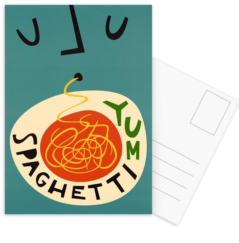 , Yum Spaghetti Postcard Set