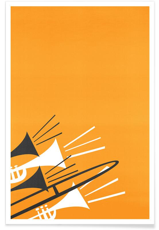 Retro, Brass Poster