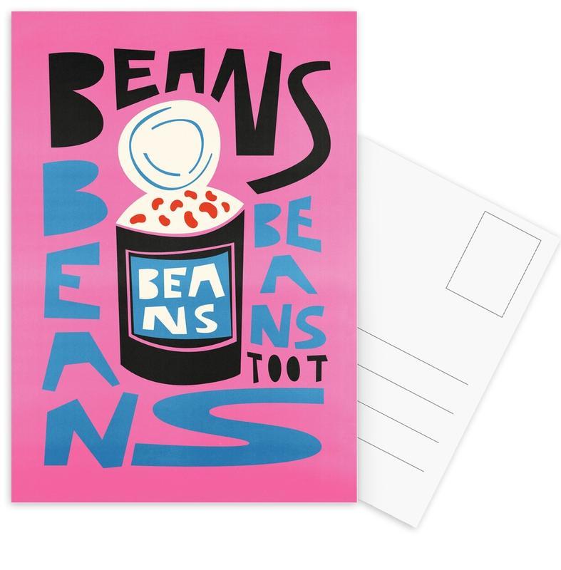 , Beans Beans Beans Postcard Set