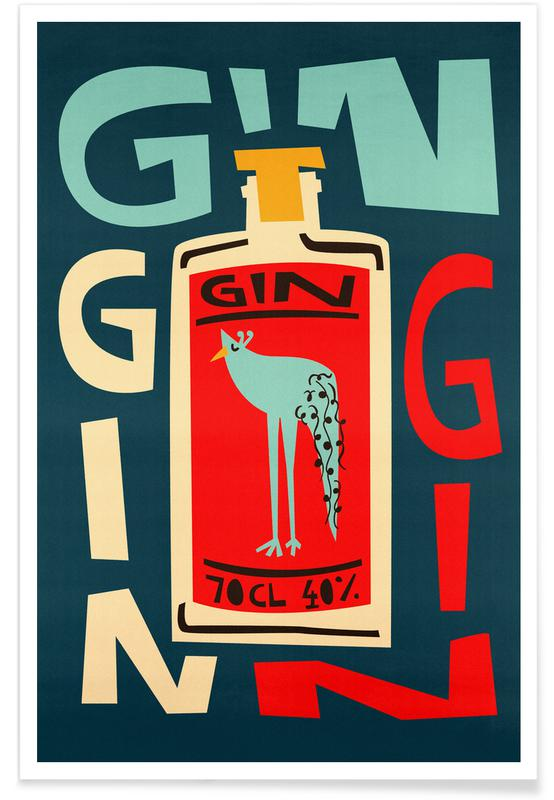 Cocktails, Gin Gin Gin Poster