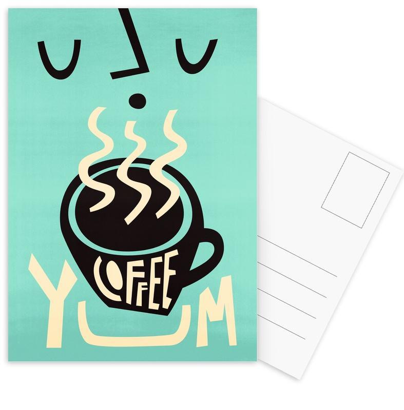 Coffee, Yum Coffee Postcard Set