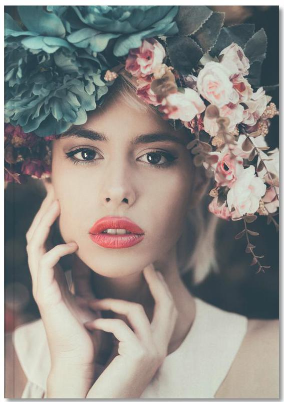 Floral Girl Notebook