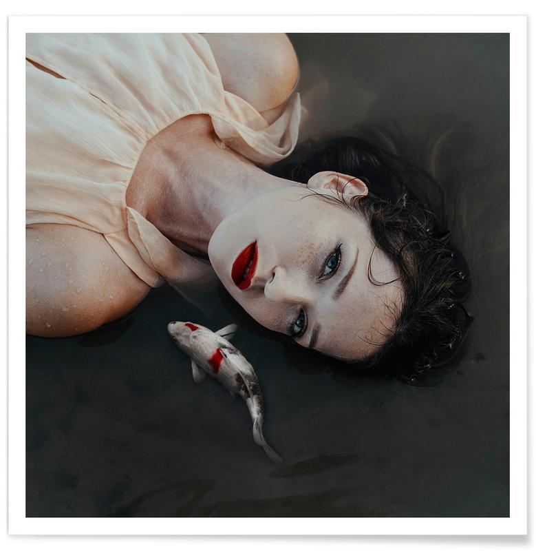 Fische, Porträts, Traumwelt, Girl Fish -Poster