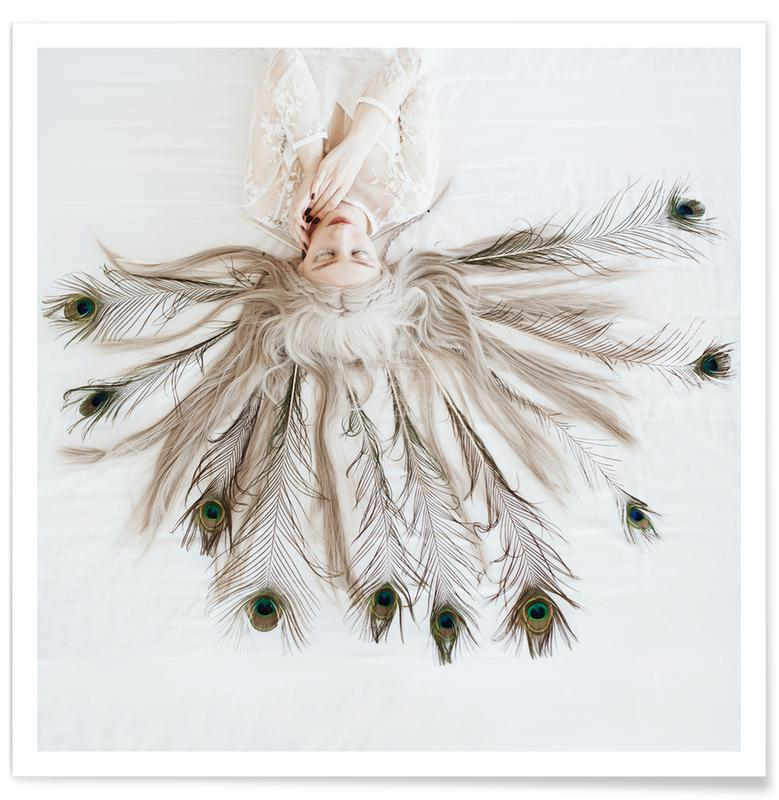 Dreamy, Feathers, Peacock Poster