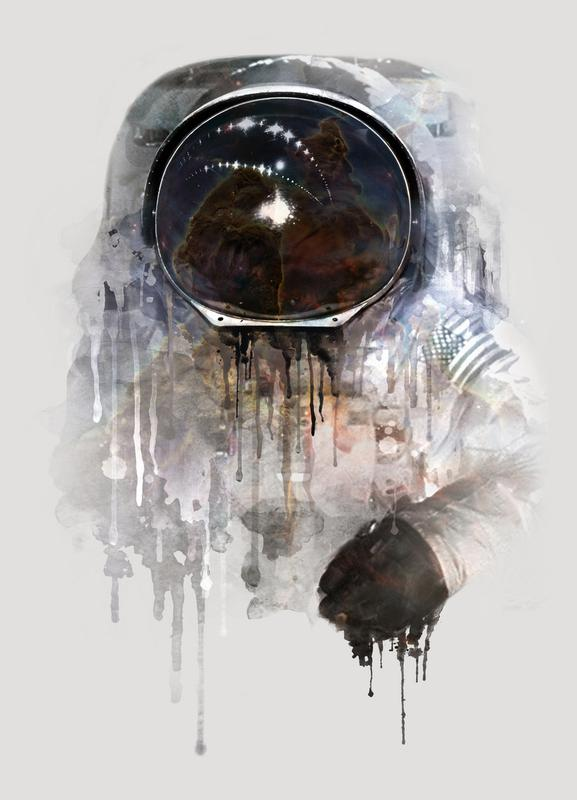 The Astronaut canvas doek