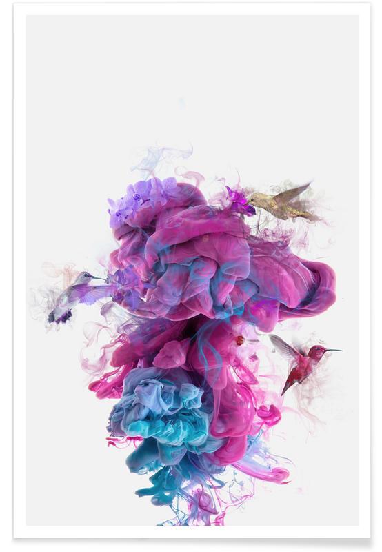Hummingbirds, Hummingbirds Ink Poster