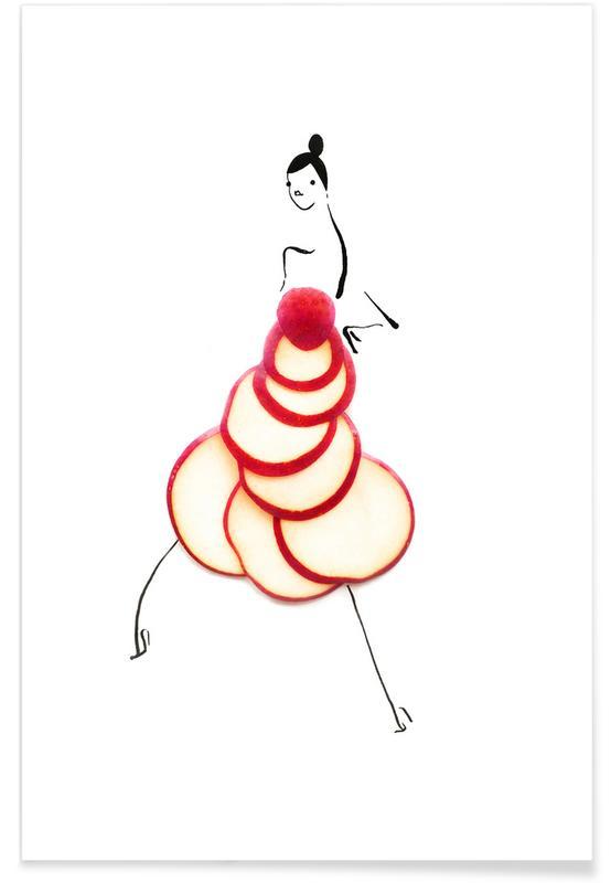 Apple Fashion Sketch Poster