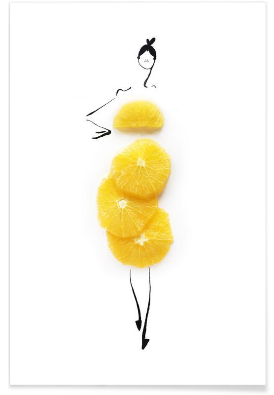Oranges Fashion Sketch Poster