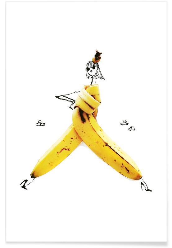 Banane - Croquis de mode affiche