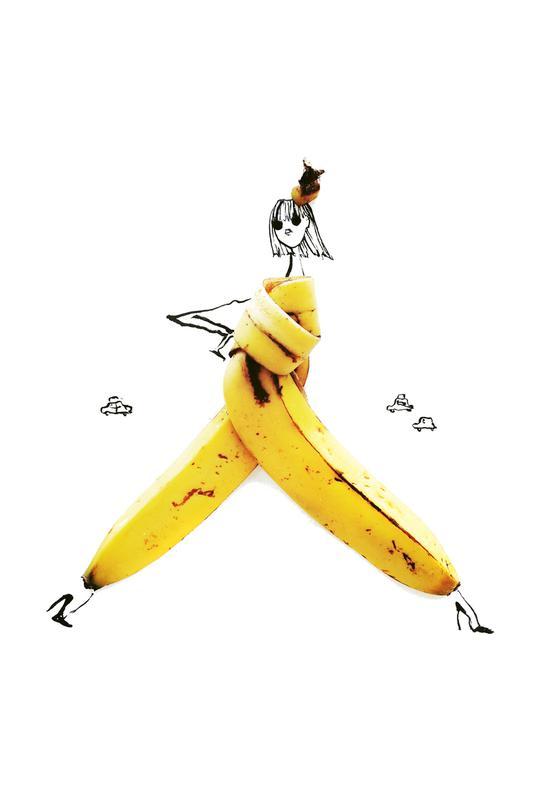 Banana -Acrylglasbild