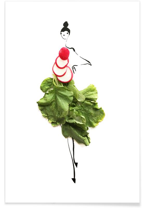 , Radish Fashion Sketch Poster