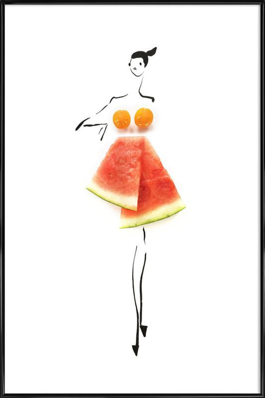 Tomato Melon Framed Poster