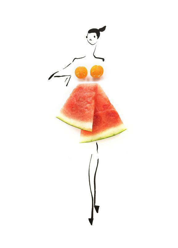 Tomato Melon Canvas Print
