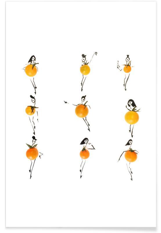 Tomater, Tomato Fashion Sketch Plakat