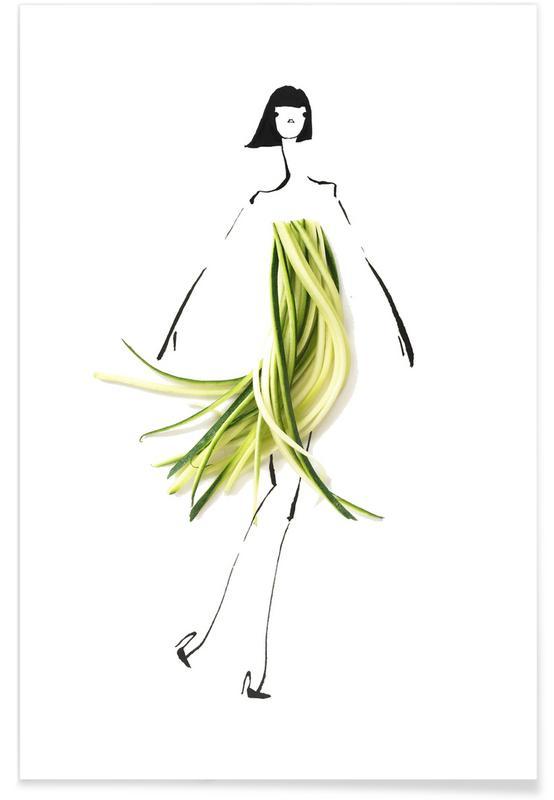 , Zuccini Fashion Sketch Poster