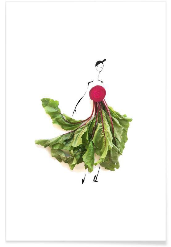 Beet Fashion Sketch Poster