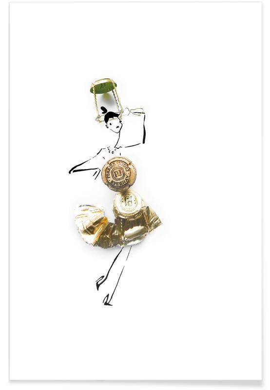 Vins, Félicitations, Mariages, Champagne affiche