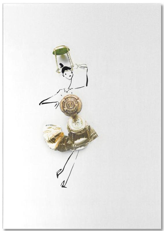 Hochzeiten, Wein, Glückwünsche, Champagne -Notizblock