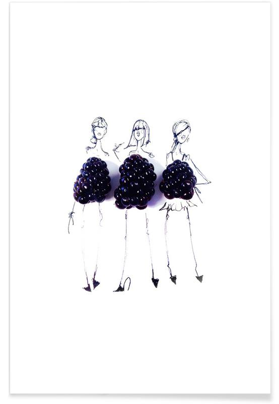 Berries Fashion Sketch Poster