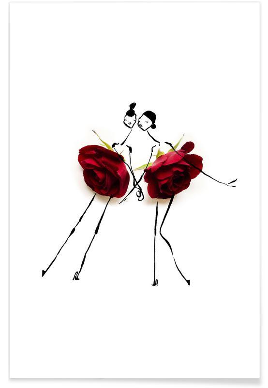 Roses, Anniversaires de mariage et amour, Saint-Valentin, Colin Campbell Cooper-Roses affiche