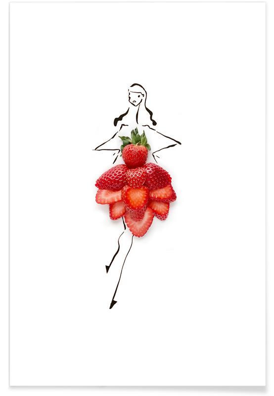 Jordbær, Strawberries Plakat