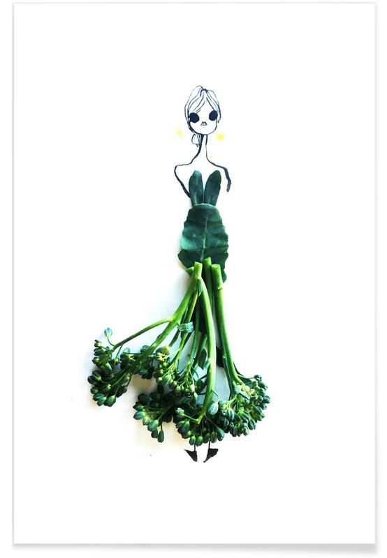 Brocoli - Croquis de mode affiche